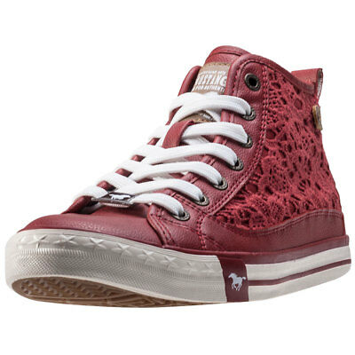 Mustang High Top With Embroidery Donna Red Sintetico Scarpe  - 39 EU