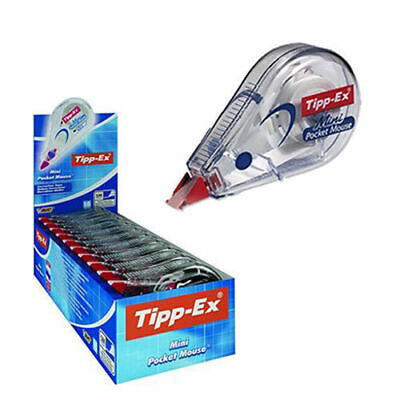 10 x Tipp-Ex Mini Pocket Mouse Correction Tape Roller 5mm x 6M (Pack