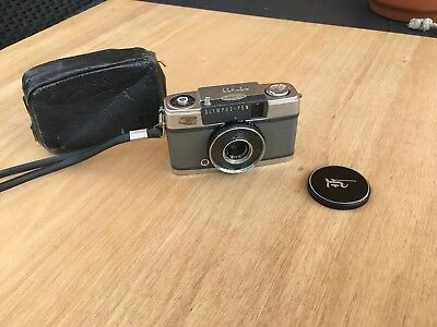 Olympus Pen EE S 35mm camera with Zuiko  Lens and Pen cap & case