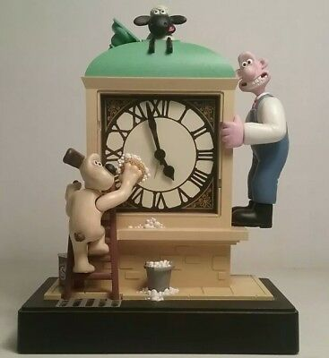 Wallace and Gromit Animated Alarm Clock Aardman BBC WORKS! Light Music Analog