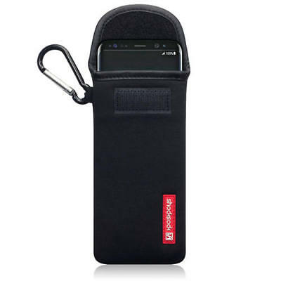 Shocksock Neoprene Pouch Case with Carabiner for Samsung Galaxy S8 - Black