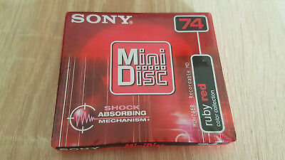 sony minidisc ruby red 74