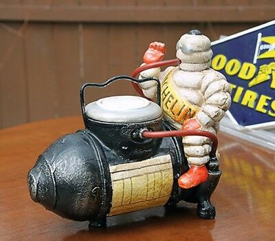Michelin Man on Compressor-Bibendum Michelin Man- Vintage Bibelobis