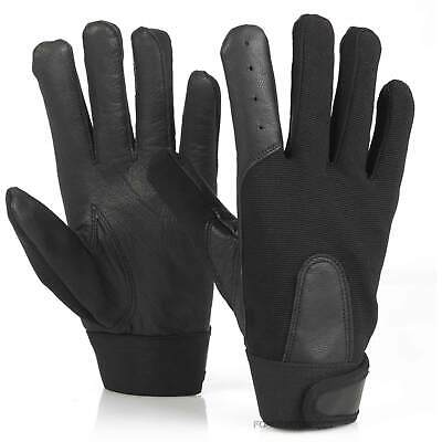 Mens Black Military Tactical Leather Gloves Special Ops Army Combat Security