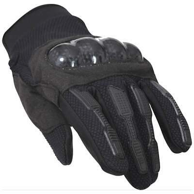 Mens Black Hard Knuckle Tactical Gloves Military Airsoft Security Police Combat