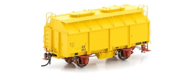 Auscision Vfw-79 Gh Grain Wagon With 2 Roof Hatches Hansa Yellow 6 Car Pack