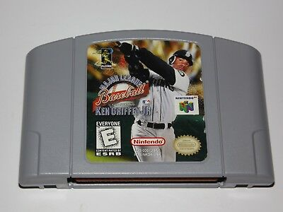 45ea584a0e Major League Baseball Featuring Ken Griffey Jr. Nintendo 64 N64 Clean &  Tested
