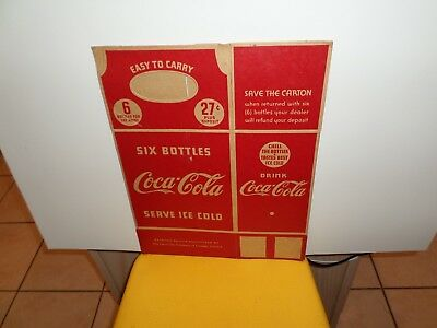 Coca Cola Six-Pack Cardboard Carrier 1930's