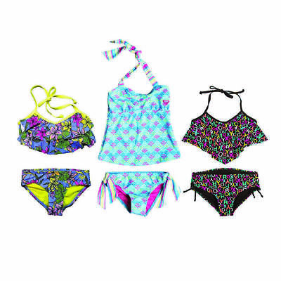 Roxy Girls 2 Piece Bikini Set - UPF 50+ Sun Protection - Variety Designs & Sizes
