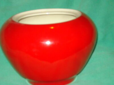 Hall China Chinese Red Kraft Cheese Bowl 50's