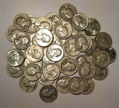 Roll Of 40 $10 Face 90% Silver Washington Quarters
