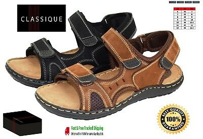 Classique Mens New Formal Leather Casual Smart Summer Strapped Sandals Designer