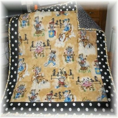 Rodeo Cats Fabric Patchwork Baby/Toddler Quilt