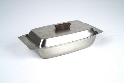 Butter Dish/boat - Danish Modern Stainless Steel & Rosewood Vintage/mid-Century