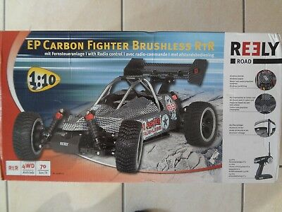 Reely Road Carbon Fighter Brushless Fighter-Buggy RTR 4WD M.1:10 OVP+Ladegerät