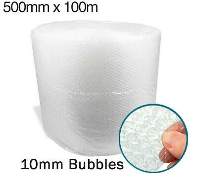 500mm x 100m Small Bubble Roll Cushioning Quality Wrap 100 meters long roll