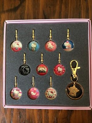Vintage Hello Kitty 25th Anniversary Fastener Accessory Set Sanrio Japan 1999