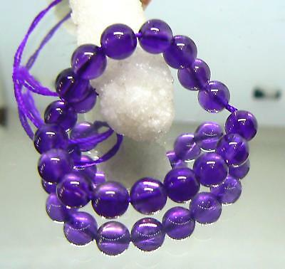 """18 NATURAL DEEP  PURPLE AFRICAN AMETHYST ROUND BEADS  6mm  4.25"""" STRAND AAA+++"""