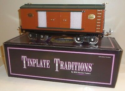 Mth Tinplate 200 Series 214 Automobile Furniture Box Car 10-2035 Stand. Gauge Ob