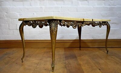 Antique style ornate coffee table