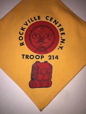 Boy Scouts if America BSA  Vintage Neckerchief Rockville N.Y. Troop 214