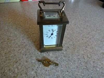 Superb Antique  French Made Brass Carriage Clock (Full working order) with key