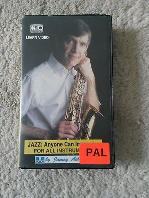Jamey Aebersold Video VHS Anyone can improvise Improvisation Saxophon