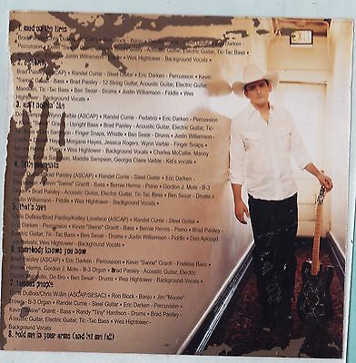 Brad Paisley Band STICKER Album Cover Art Country Music Decal Mud on the Tires