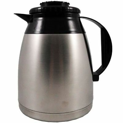 Commercial 1.8 Liter Thermal Coffee Carafe with Brew Thru Black Regular Lid
