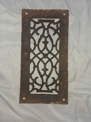 1 Antique Cast Iron Fireplace Grill Grates 11x6 Wall Ceiling Vent Old Vtg 86-18F