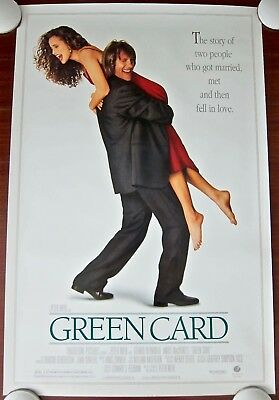 GREEN CARD ~ Original (1990) 27x40 Movie Poster ~ ROLLED MINT CONDITION!