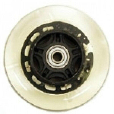 """4x1"""" Light-up Clear Caster Tire for Wheelchair 5/16"""", Precision Bearing RP183000"""