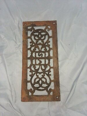 1 Antique Cast Iron Fireplace Grill Grates 13x6 Wall Ceiling Vent Old Vtg 87-18F