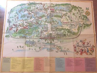 A Guide to Magic KIngdom large wall map 1976