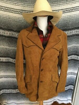 Vintage Scullys Western Suede Leather Jacket Medium for Pendleton Nudie Country