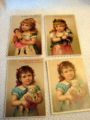4 Vintage Niagara Starch Trade Cards