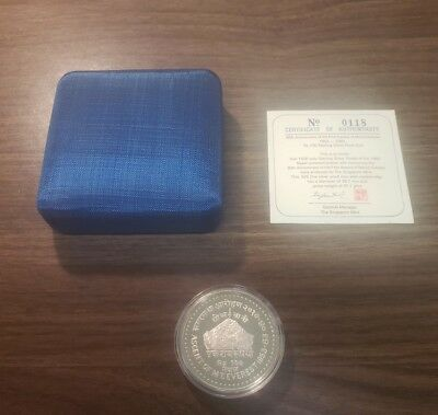 Nepal 1983 Silver Proof 30th Anniversary Ascent Of Mt. Everest W/ Box & C.O.A.