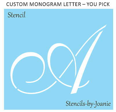 Joanie Stencil Custom Monogram Letter Personalized Home Decor Craft Sign U Paint