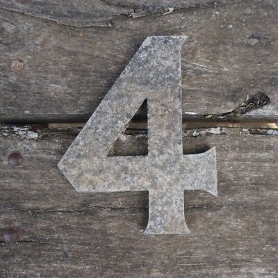 Vintage Marquee Theater Letter Number 4 Wagner Sign Service 8 Inch Antique 4