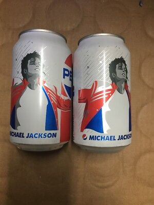 2 Pepsi Cans Michael Jackson Can Unopened 2018
