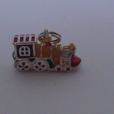 16x15x6mm CHOO CHOO TRAIN FINE PEWTER PENDANT CHARM