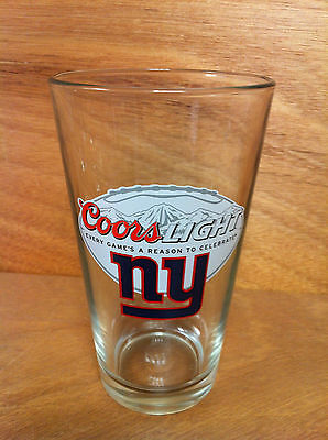 Coors Light New York Giants Team Logo Beer 16 oz Pint Glass - NEW