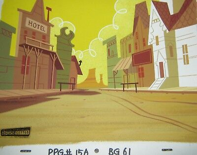 Original production background - Power Puff Girls