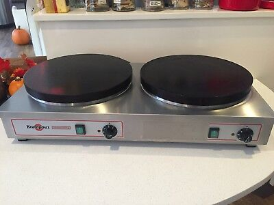 Krampouz DUAL ELECTRIC CREPE MAKER -Double Grill  *1/2 OFF NEW CAFE Barely used!