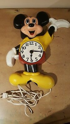 HTF Mickey Mouse Pendulum Clock Welby-Elgin Walt Disney Productions 1950s