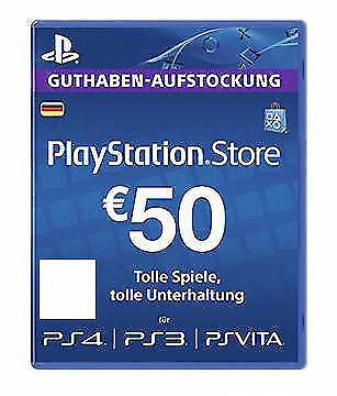 Sony PSN Card 50 Euro PS4 / PS3 / PS Vita  Playstation Network Card