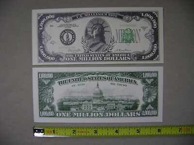 2x The Statue of Liberty One Million Dollar Novelty Bills (NEW) $1,000,000