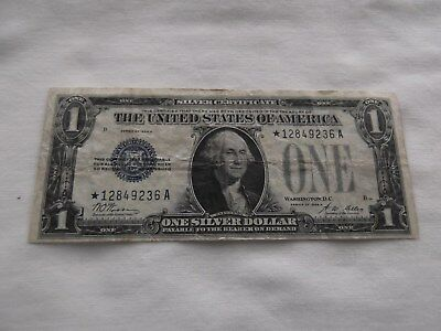 """1928A $1 Silver Cetificate """"Funny Back"""" - Star Note - FR-1601*"""