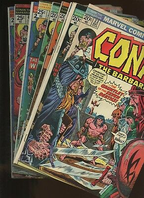 Conan the Barbarian 33,34,35,36,37,38,39,40,41,42 ~ 10 Book Lot * John Buscema!