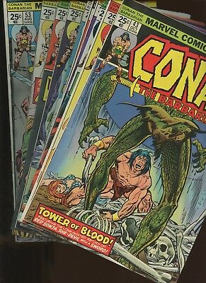 Conan the Barbarian 43,44,45,46,47,49,50,51,52,53 ~ 10 Book Lot * John Buscema!